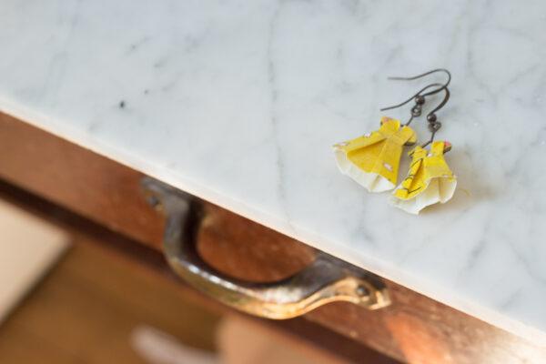 boucles d'oreilles origami robes clémica