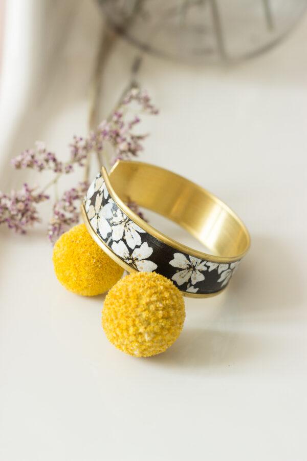 bracelet papier washi rebord doré