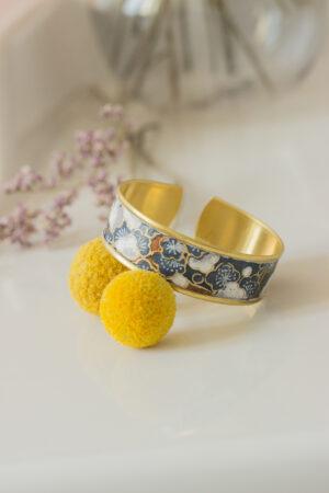 bracelet manchette papier washi vernis