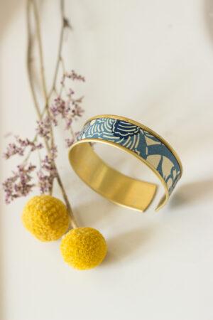 artisanat d'art en Creuse bijoux origami bracelet origami clémica artiste en creuse