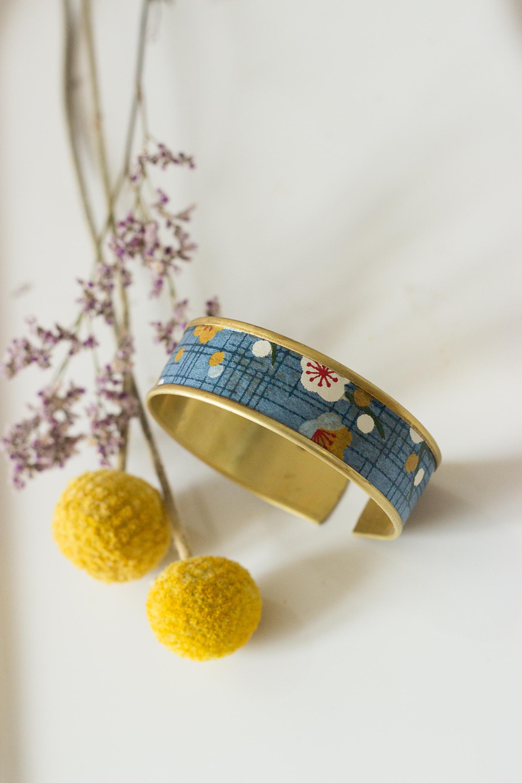 artisanat d'art en Creuse bijoux origami bracelet origami papier washi clémica artiste en creuse