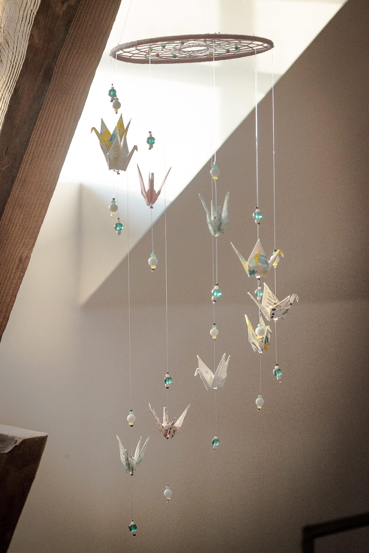 artisanat d'art en creuse artiste en creuse bijoux origami mobile origami clémica