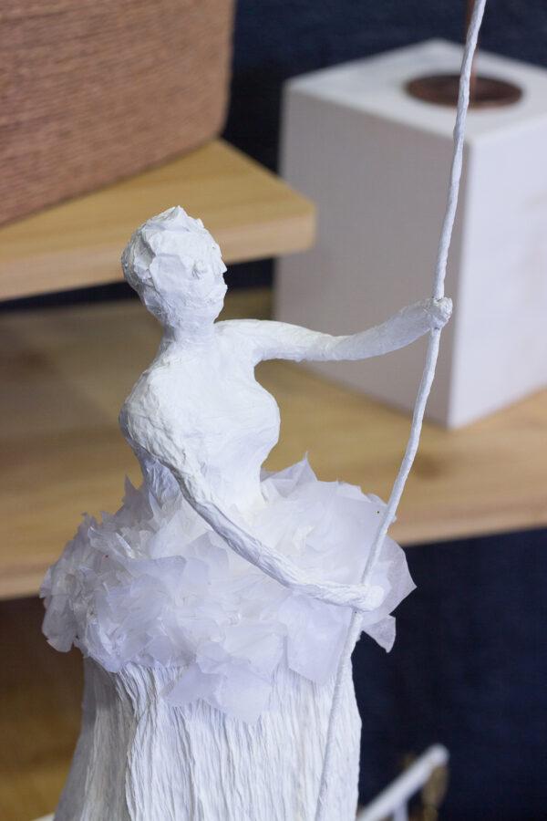 sculpture en papier clémica jessica paterne