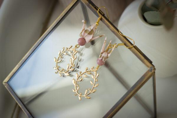 bijoux origami boucles d'oreilles origami cadeau fête des mères bijou original bijou unique clémica