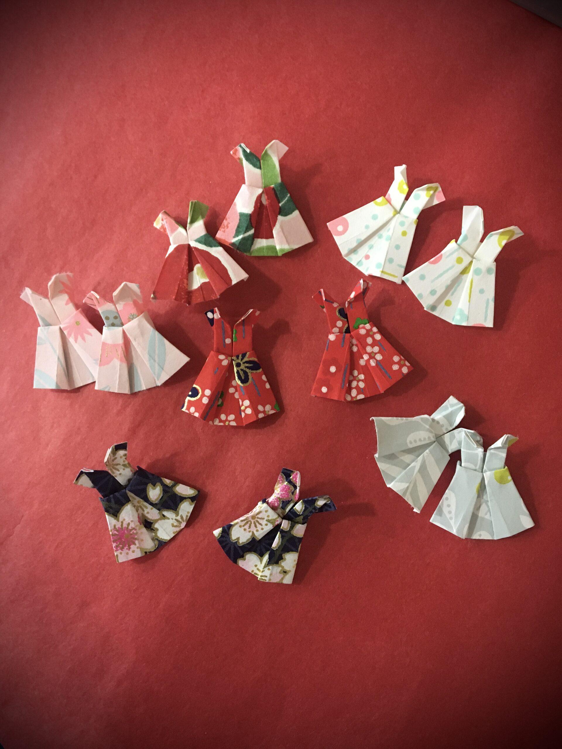 Jessica paterne clemica artisanat d'art artiste en creuse bijoux origami boucles d'oreilles robes origami